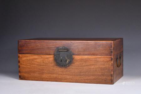 A Hardwood Document Box 20thC