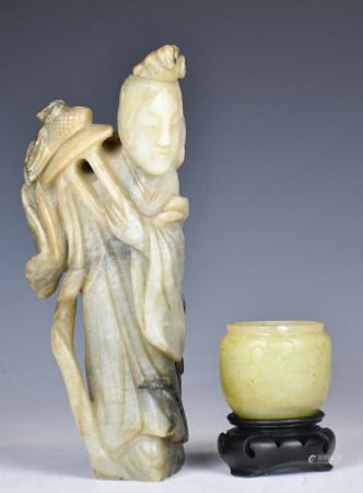 Two Jade Carvings, Late Qing
