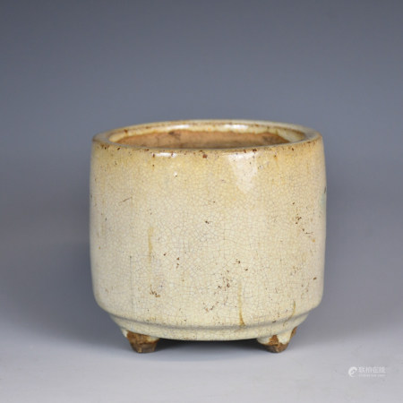 A Chinese Ge-Type Censer, Qing