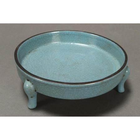 A Chinese celadon glaze dish