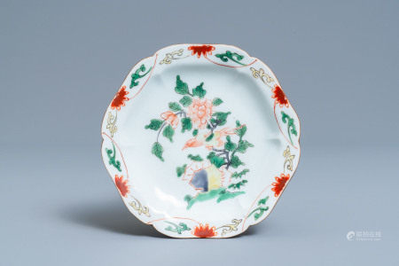 A Chinese wucai ko-aka-e plate for the Japanese market, Transitional period