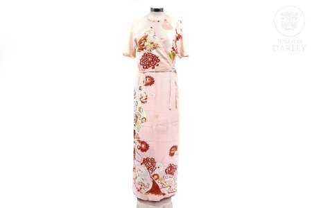 Vestido japonés en dos partes de seda, med.s.XX