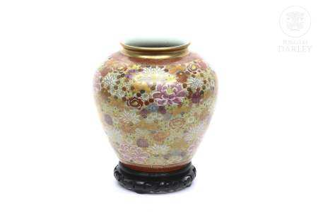 Jarrón japonéss de porcelana Imari, ffs.s.XIX