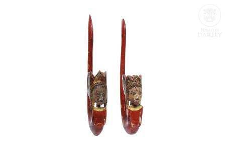 Pareja de picaportes, China, pps.s.XX