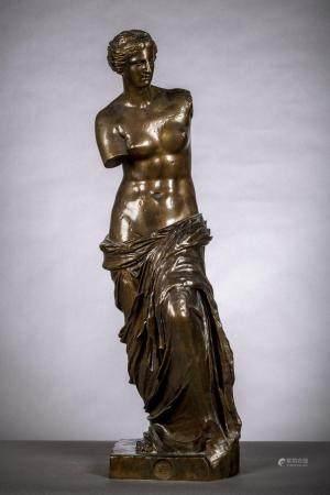 Barbedienne: statue en bronze 'Vénus' (88 cm)