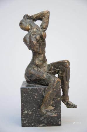 Jos De Decker: bronze sculpture 'nude figure' (14.5 cm)