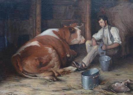 A. Baud Bovy: painting (o/c) 'the veteranarian' (55x76 cm)