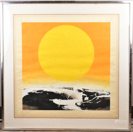 Liu Guo Song(B.1932) 'Which Is Earth?' Series, Framed
