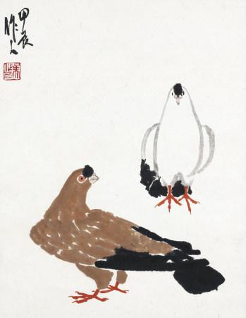 1964年作 吳作人 和平鴿
