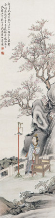 1882年作 黃山壽(清) 仕女