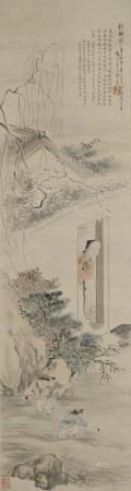 1865年作 王素(清) 鏡聽圖