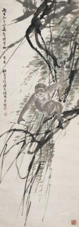 1936年作 熊松泉、柳濱 封侯圖