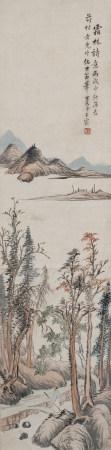 1766年作 王宸(清) 霜林詩意