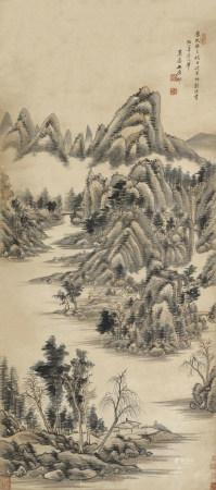 1713年作 王原祁(清) 山水