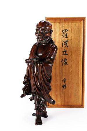 清 黃楊木雕羅漢立像