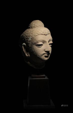 2-3世紀泥塑犍陀羅佛首