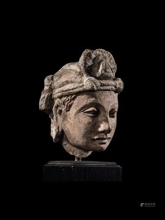 2-3世紀泥塑犍陀羅菩薩頭像