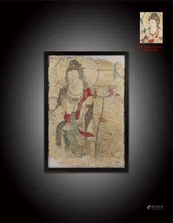 唐 觀世音壁畫像