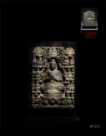 2-3世紀灰片岩犍陀羅浮雕