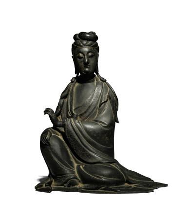 明 銅觀音坐像