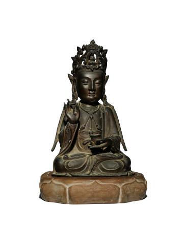 明 觀音銅坐像