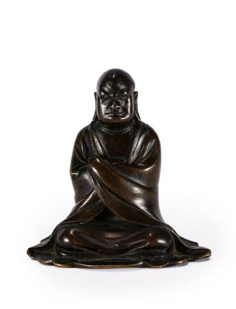 明 達摩銅坐像