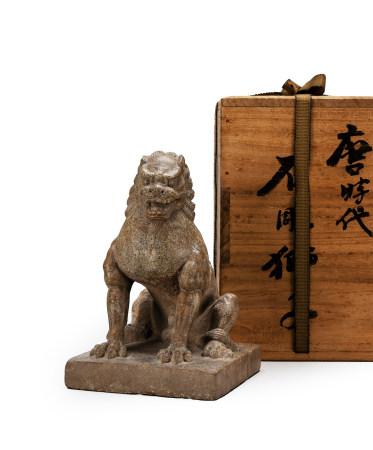 古渡唐物石雕獅子