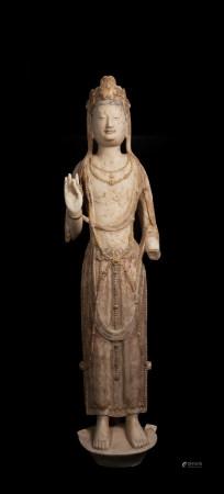 北齊 白石雕菩薩立像