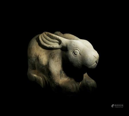 唐 白石兔