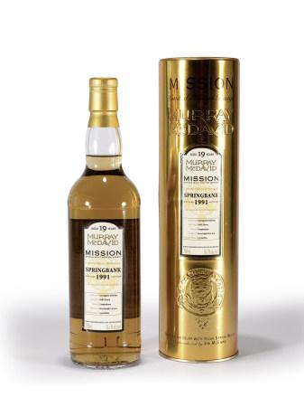 1991年SPRINGBANK雲頂19年單一麥芽威士忌