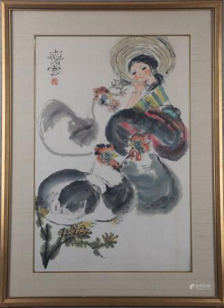 A CHINESE PAINTING - CHENSHIFA