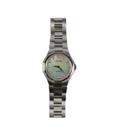 CONCORD STEEL LADIES WATCH & MOTHER OF PEARL FACE