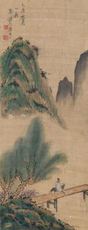 1825年作 鄭謨 遊春