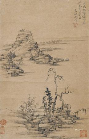 1364年作 倪瓚 秋景