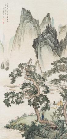 1945年作 陳少梅 仿元人筆意
