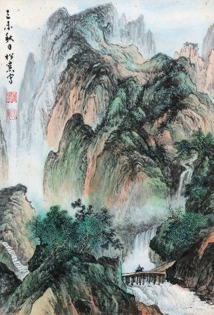 1919年作 溥佺 秋日游山