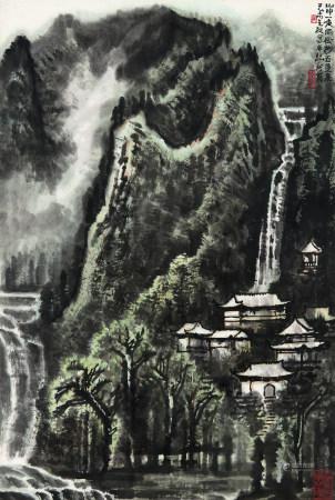 1979年作 李行簡 黃山夜雨