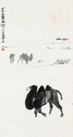 1957年作 吳作人 駱駝