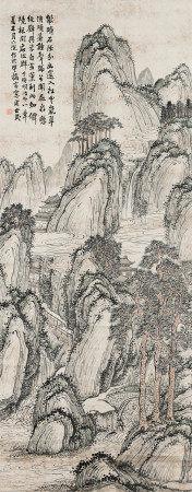 1888年作 周世民(清) 山水