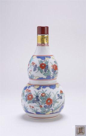 三得利21年響有田燒牡丹紋葫蘆瓶