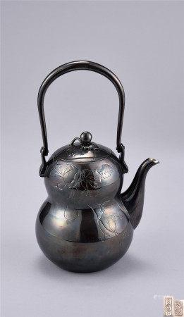 純銀製葫蘆瓶