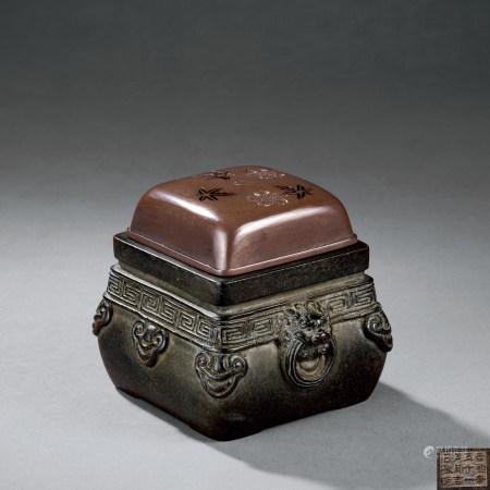 明·崇禎 鋪首紋香爐
