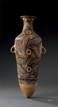 仰韶文化 半波類型彩陶雙耳壺