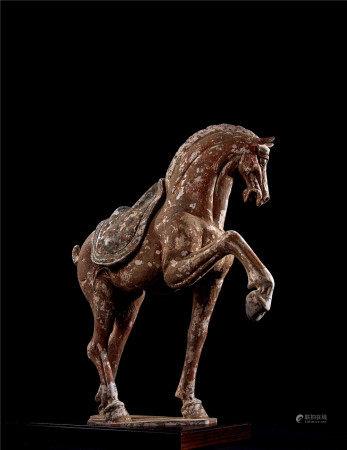北齊 加彩馬