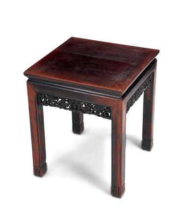 清 紅木方桌