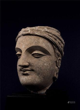 3-4世紀 灰泥帝釋天頭像