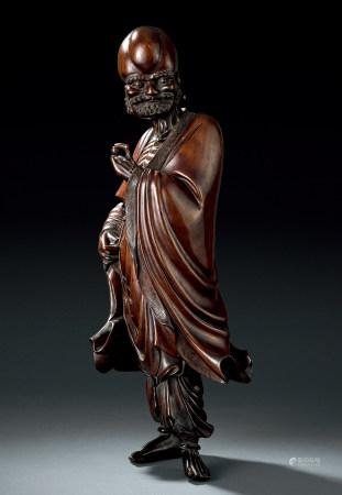 清 黃楊木雕羅漢像