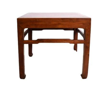 A Fine Chinese Elmwood Square Side Table, Late Qing Dynasty,