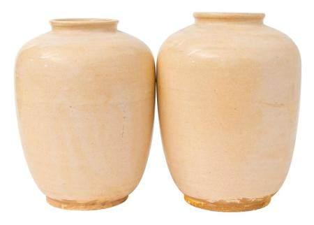 Pair of Chinese Muping Vases