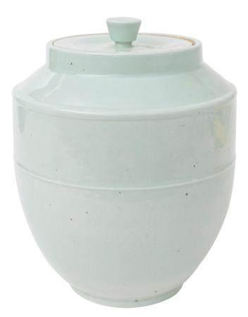 Chinese Celadon Flat Lid Jar